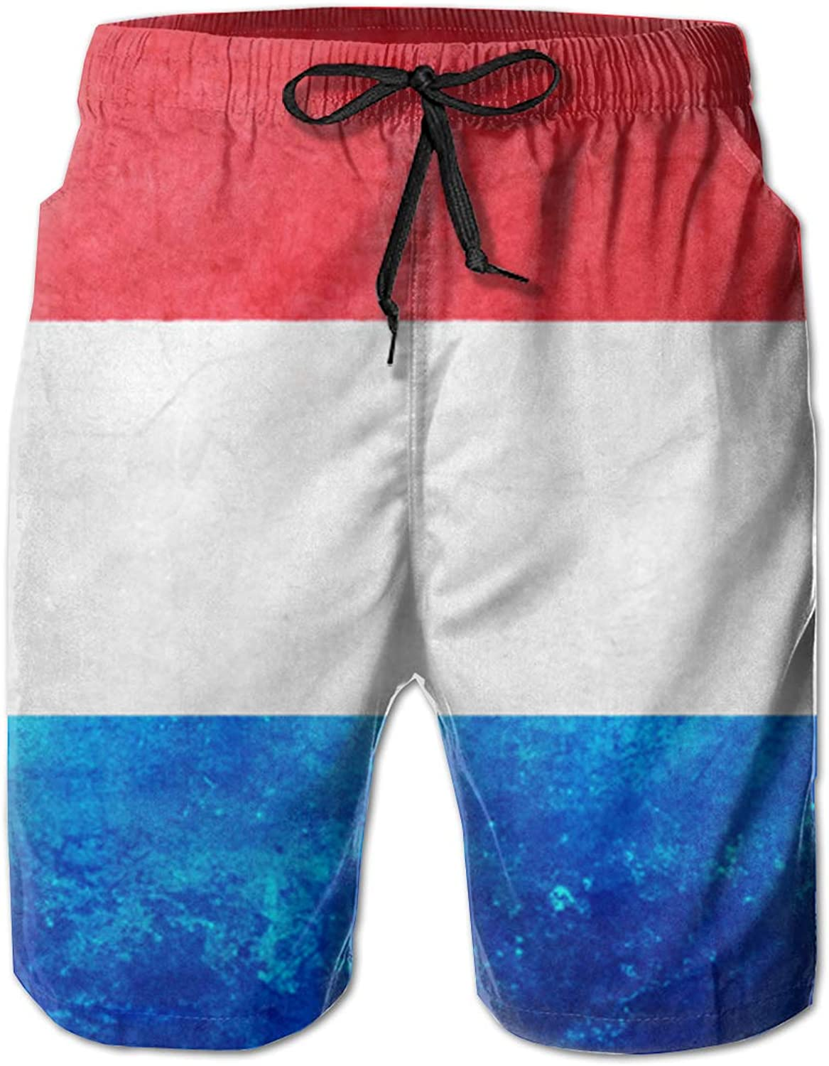- ROLLING ROLLING ROLLING HOP Men's Dry Swim Trunks Luxembourg Flag Swim Beach Trunks for Outside Home with Pockets c2d707
