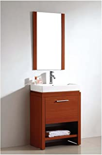 Dawn UN8801-04 Vanity Set with Sink Top, Cabinet and Mirror