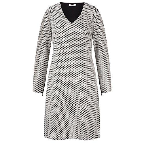 Sandwich Clothing - Jacquard-Jersey-Kleid, Pop Red Gr. 40, Schwarz