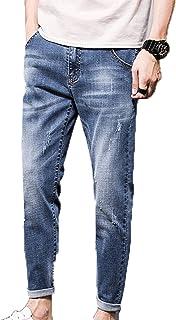 Generic11 Jeans da Uomo NONO Pantaloni Primavera e Autunno Buchi Strappati Orlo Confortevole Abbigliamento in Denim l'auto...