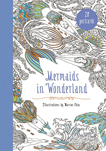 Mermaids in Wonderland 20 Postcards: An Interactive Coloring Adventure for All Ages