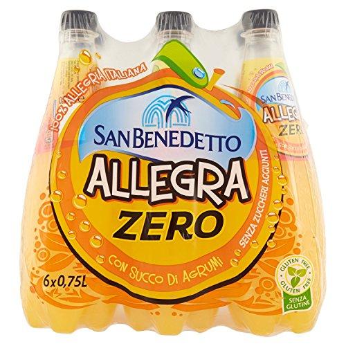 San Benedetto Bibita Analcolica Gassata al Succo d'Arancia, senza Zuccheri - 750 ml