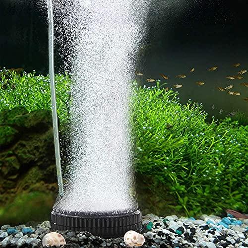 AQQA Auströmer Nano Aquarium Luftstein Ultra Leiser Sauerstoffstein, Diffusor Bubbler eingestellt Luftvolumen, Blasen gleichmäßig zart, gelöster Sauerstoff höher, Teichluftverteiler