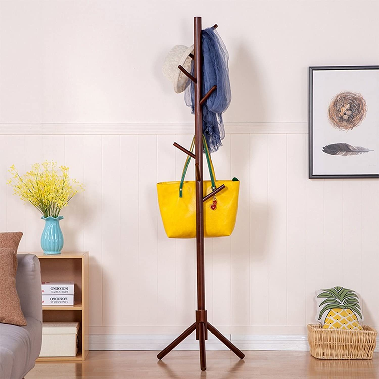 XINGZHE Coat Rack - Simple Modern Solid Wood 8 Coat Rack, Home, Living Room, Bedroom Storage Coat Rack Coat Rack (color   B)