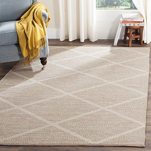 Safavieh Montauk Collection MTK821D Handmade Cotton Area Rug, 4' x 6', Black