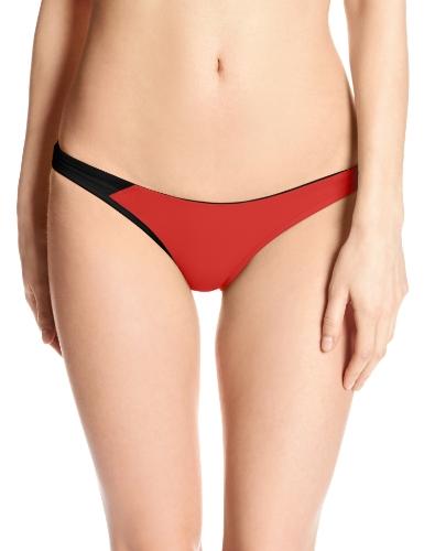 ASICS Parte inferior de bikini Kanani de mujer, rojo / negro, grande