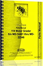 Operators Manual Galion 118 Grader SN# MD14401-MD22346