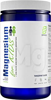 Magnesium for Kids - Natural Calming Aid, Sleep Aid, Anti-Stress, Digestive Support - Tangerine Flavor Drink Powder