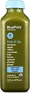 BluePrint Vegetable Juice, Kale Apple Ginger Romaine Spinach Cucumber Celery Parsley and Lemon, 16 oz