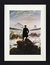 1art1 Caspar David Friedrich - El Caminante sobre El Mar De Nubes, 1818 Póster De Colección Enmarcado (40 x 30cm)