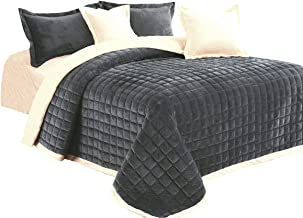 Brushed Super Soft, Luxury Micro Suede Elegant Comforter 6pcs Set, Bedding Heavy Weight Ultra Plush Blanket,Smooth Silky (...