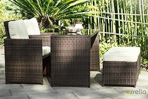 Sintético essella Vienna 2-silla sillas de comedor bi-color marrón incluye funda extra contra-resistente 1,4 mm mimbre