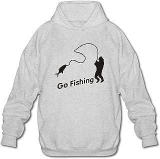 Mens Go Fishing Hoodie Fashion Pullover Hooded Sweatshirt