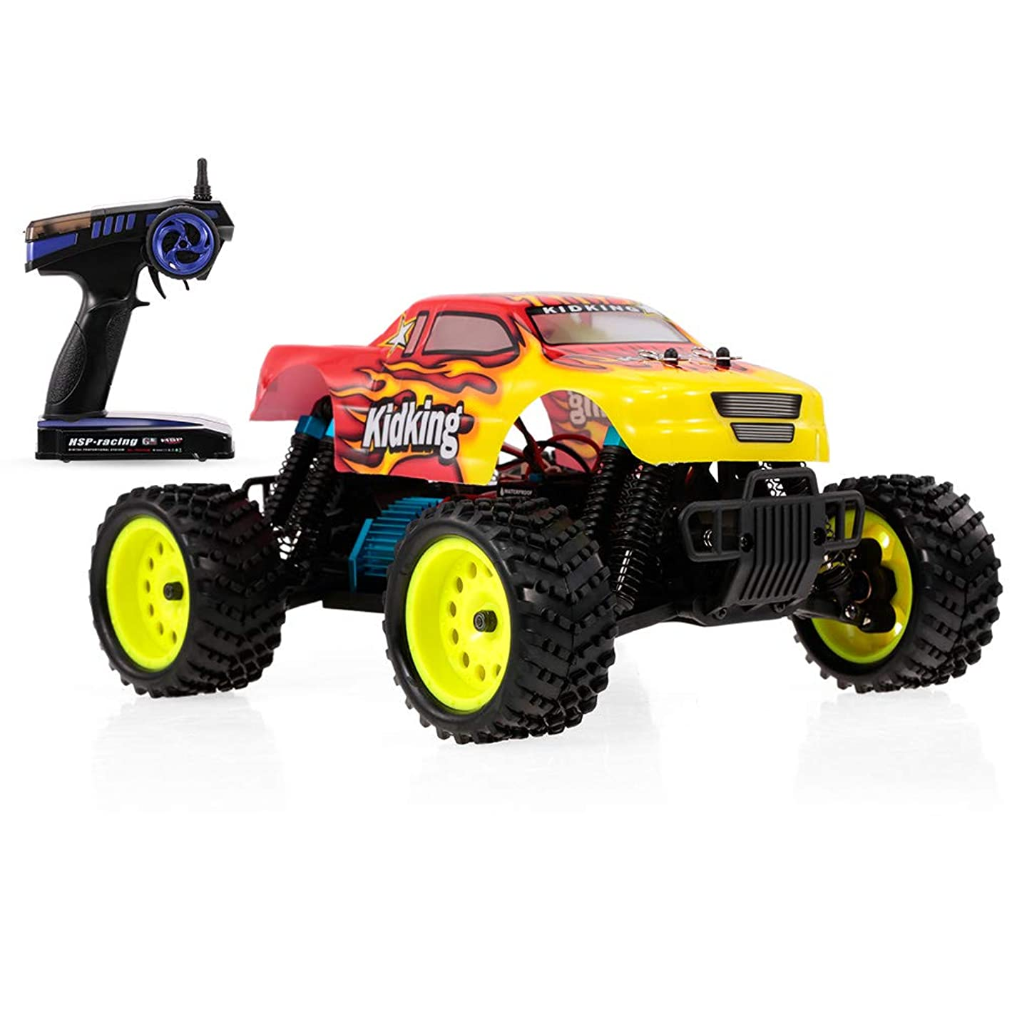 HSP No.94186 RC Car Kidking 1/16 4WD High Speed Off-road Monster Truck RTR Electric Racing Car RC Toy for Kids gdi161079866290