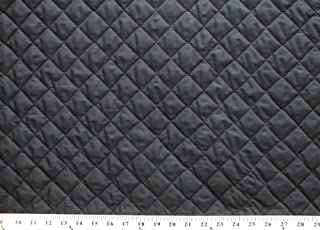 Double-Faced Reversible Pre-Quilted Black Polycotton Fabric by The Yard