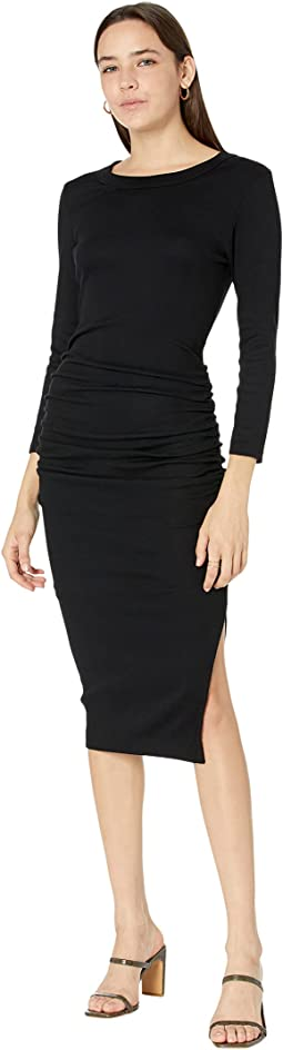 Ultra Rib Christina 3/4 Sleeve Midi Dress