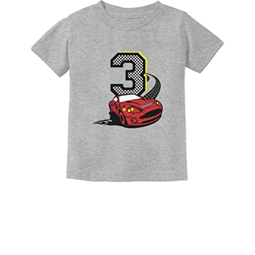 3rd Birthday 3 Year Old Boy Race Car Party Toddler Kids T Shirt