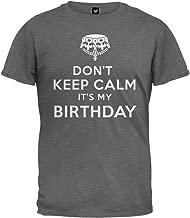 Old Glory - Don't Keep Calm It's My Birthday T-Shirt Grey