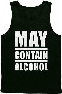Blittzen Mens Tank Top May Contain Alcohol