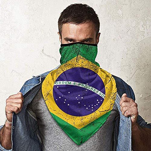 WCUTE Brésil Drapeau Conception Magique Chapeaux Foulard Bandanas Moto Bandeaux Multifonctionnel Tube Écharpe Cou Guêtre Casque