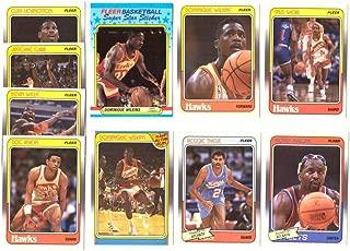 1988-89 Fleer w/Sticker Basketball Team Set - Atlanta Hawks