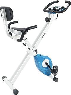 AKNIO エアロビクスバイク 連続使用時間60分 折りたたみ式 マグネット式 静音 心拍数計測 背もたれ付き 8段階負荷調節 収納便利 フィットネスバイク ダイエット 有酸素運動 日本語説明書 三年保証