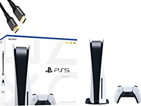 Sponsored Ad - PS5 Playstation 5 Disc Edition Console 4K-TV Gaming, 16GB GDDR6 RAM, Ultra-High Speed 825GB SSD, WiFi 6, Bl...