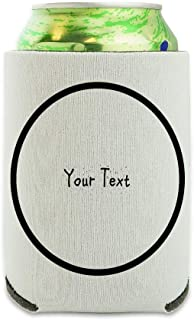 Personalized Custom White Any Occasion 1 Line Sprinkle Font Can Cooler - Drink Sleeve Hugger Collapsible Insulator - Beverage Insulated Holder