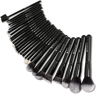 DUcare Makeup Brush Set 27Pcs Professional Makeup Brushes Premium Synthetic Goat Pony Hair Blending Brush Kit