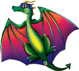 "Qualatex 45"" Mythical Dragon Foil Balloon, Multicolor"