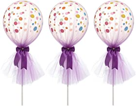 1 Set 12inch Colorful Tutu Tulle Confetti Balloons with Column Base Wedding Decoration Bachelorette Birthday Party Supplies