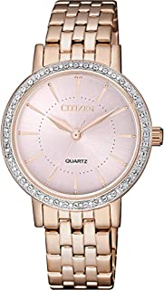 Citizen Women Gold Dial Stainless Steel Band Watch - EL3043-81X