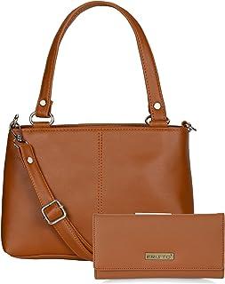 Fristo Women's Handbag and Clutch Combo