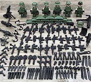 陸軍 特殊部隊 6体セット 超大量 武器 防具 付き 150p ミニフィグ ミニフィギュア 軍隊 軍人 海兵隊