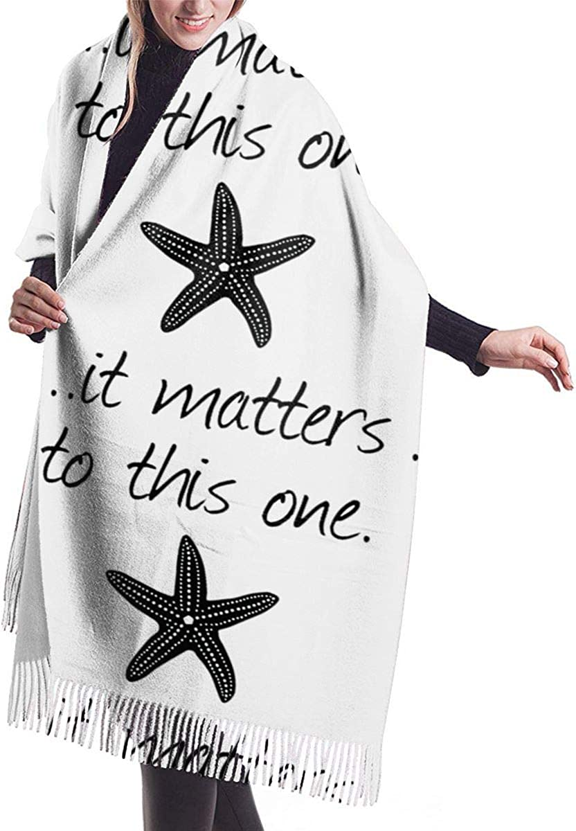 It Matters To This One Starfish. Winter Scarf Cashmere Scarves Stylish Shawl Wraps Blanket