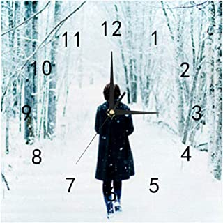 SHOP-DIY Square Wall Clock, Quality Quartz Operated for Home # Snowfield