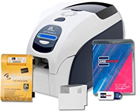 Zebra ZXP Series 3 Single Sided, Mag Encoder, Card Printer, Supplies Bundle with Card Design Software