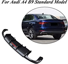 JC SPORTLINE A4 B9 Base CF Rear Lip, fits Audi A4 B9 Standard Sedan 4 Door 2017-2019 Carbon Fiber Rear Diffuser Lower Lip Spoiler Protector Guard