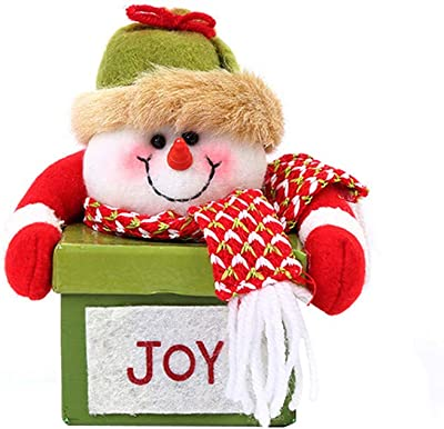 LYFWL Christmas Wreath Wedding Wreath High-End Box Santa Claus Doll Head Tray Children Candy Box 14138Cm Snowman