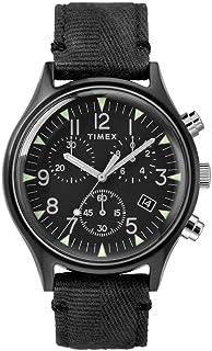 Timex MK1 Steel Chronograph 42 mm Black Dial Watch TW2R68700