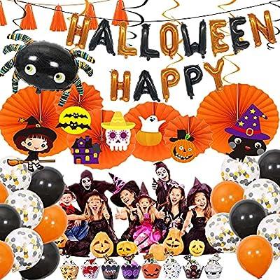 Halloween Decor Garland Kits HAPPY HALLOWEEN Ba...