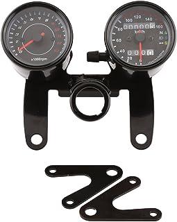 Universal 12V Motorrad ATV Scooter 13000 U/min Drehzahlmesser km/h Tachometer Dual Display Kilometerzähler
