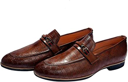 Hush Berry Mens Synthetic Leather Designer Buckle Shoes