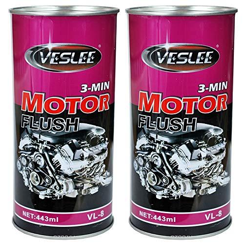 VESLEE FRANCE Nettoyant Moteur Avant Vidange Diesel Essence-Lot De 2 Nettoyant Pre Vidange Moteur Et Boite Mécanique Huile Auto Moto 443 ML
