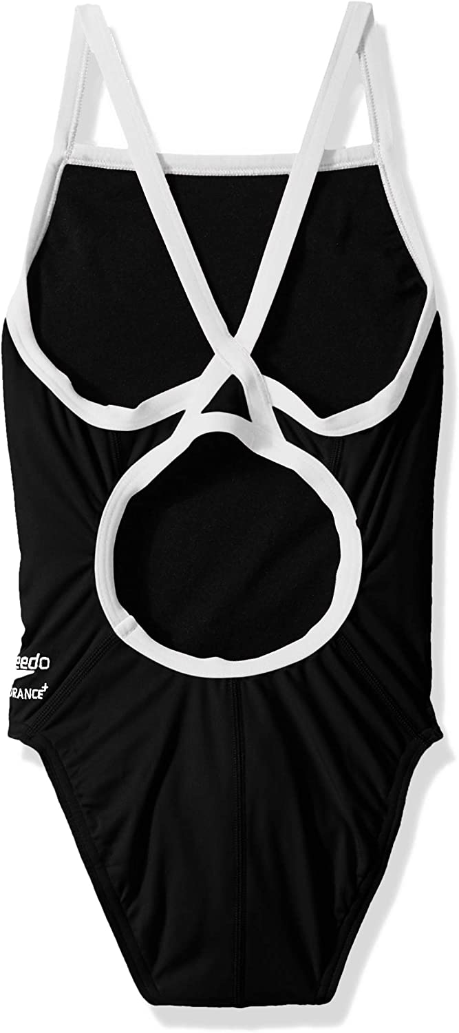 Speedo Girls Swimsuit One Piece Endurance Flyback Solid Youth Team Colors