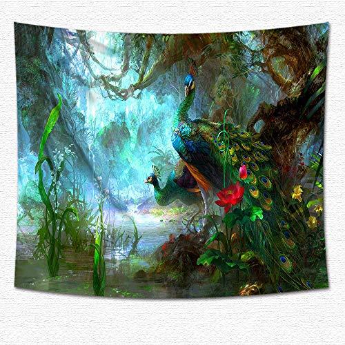 jtxqe Tapiz de fantasía Estampado de Tela Colgante decoración para el hogar Tapiz 05 150 * 150 cm