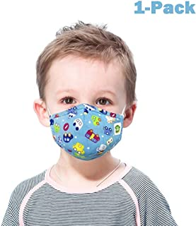 9-layer Dust-proof Wind-proof Activated Carbon Filter Cartoon Print M asks Gasket Washable Breathable Warm And Cotton Reusable 3-8 Child Protection Blue (Color : Blue, Size : 3-8 years old)