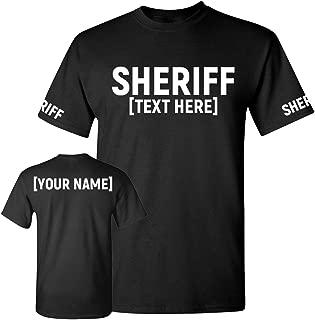 Custom Sheriff T Shirt - Law Enforcement Officer Tshirts - Deputy Uniform