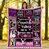 Throw Blankets Cheerleading is My Sport Flannel Fleece Throw Blanket Warm Soft TV Bed Couch Movie Watching Blanket for Kids Adults Soft Sherpa Blanket and Throws for All Seasons 50'x40'