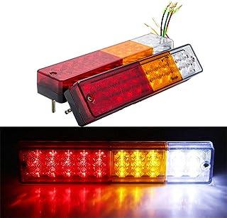 Terisass DC 12V Car Fanale posteriore 2 pezzi Indicatore LED per auto Indicatore di direzione Luce posteriore del freno posteriore Lampada di retromarcia per camion rimorchio RV universale